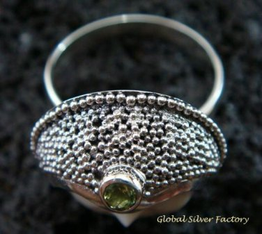 925 Silver Peridot Goddess Ring GDR-159-PS