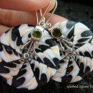 925 Silver Peridot & Shell Earrings ER-541-KT