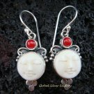 Sterling Silver Carnelian Goddess Earrings GDE-925-NY