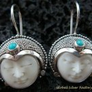 925 Silver & Turquoise Goddess Earrings GDE-988-PS