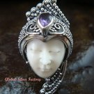 Sterling Silver Amethyst Goddess Cocktail Ring GDR-1102-PS