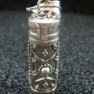 Sterling Silver Cremation Perfume Pendant PP-421-PS