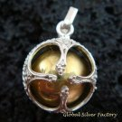 925 Silver 14mm Chakra Chime Ball Pendant CH-312-KT