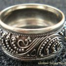 925 Silver Bali Filigree Style Unisex Ring SR-163-PS