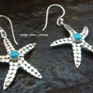 925 Silver Turquoise Starfish Earrings ER-564-NY