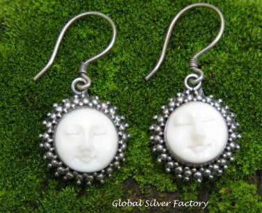 Carved Goddess Face Earrings GDE-1314-NY