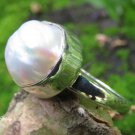 Mabes Pearl and Sterling Silver Ring RI-686