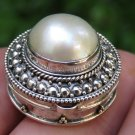 Sterling Silver and Mabes Pearl Locket Pendant LP-257