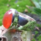 Sterling Silver and Carnelian Gemstone Ring RI-689