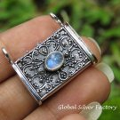 Rainbow Moonstone Balinese Prayer Locket Pendant LP-248-KT