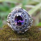Amethyst Poison Locket Ring LR-759