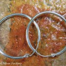 26mm Sterling Silver Hoop Earrings SE-273-KA
