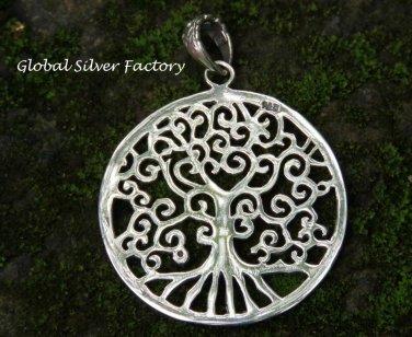 Sterling Silver Tree of Life Inspired Pendant SSP-161-KA