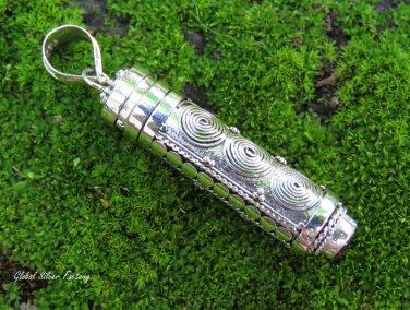 925 Silver and Garnet Spiral Design Cremation Pendant PP-518