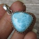 Silver and Larimar Gemstone Pendant SP-850