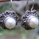 Sterling Silver and Pearl Earrings ER-876
