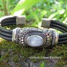 Rainbow Moonstone Gemstone Bangle SBB-488