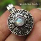 Rainbow Moonstone Locket Keepsake Pendant LP-251
