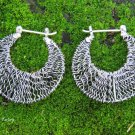 925 Silver Crazy Wire Hoop Earrings SE-284