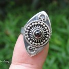 Garnet and Sterling Silver Gemstone Ring RI-690