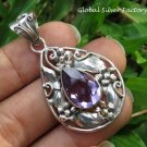 Amethyst Leaf Design Pendant SP-864