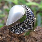 925 Silver and Mabes Pearl Women's Ring RI-691