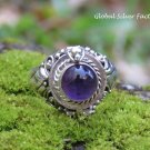 Amethyst Cabochon Poison Locket Ring LR-756