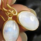 18k Gold Plated Rainbow Moonstone Earrings GPR-134