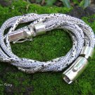 925 Silver Twisted Chain Style Bracelet MJ-139