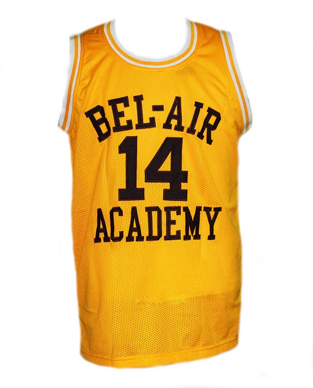 WILL SMITH #14 THE FRESH PRINCE OF BEL-AIR BASKETBALL JERSEY YELLOW - ANY SIZE