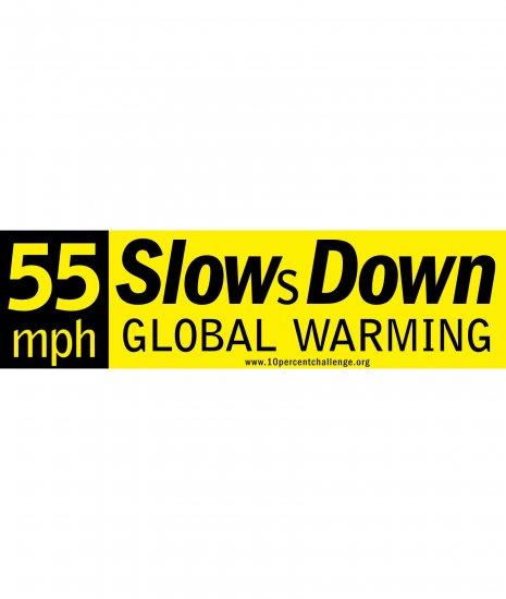 55mph bumper sticker