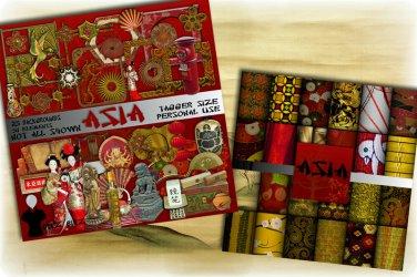 Asia Digital Scrapbook Kit