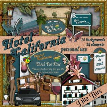 Hotel California Digital Scrapbook Kit