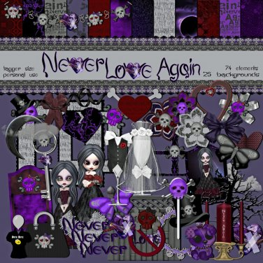Never Love Again Digital Scrapbook Kit