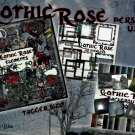 Gothic Rose Digital Scrapbook Kit