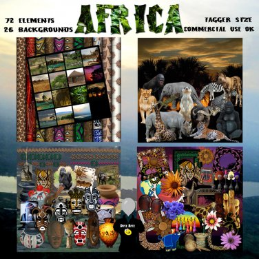 Africa Digital Scrapbook Kit