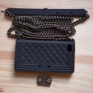 Luxury Chain Boy Purse Handbag style iPhone 5 5s Silicone Case Cover Black