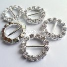 "25 pcs rhinestone crystal diamante ribbon buckle slider 16mm 3/5"" Wedding Craft embellishment"