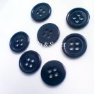 "50 pcs Black resin plastic buttons 12.5 mm or 1/2"" Sewing Scrapbooking DIY Craft embellishment"