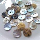 "60 pcs Akoya shell buttons 13mm or 1/2"" 2 holes sewing scrapbooking DIY art craft embellishment"