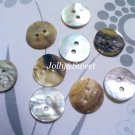 "100 pcs Akoya shell buttons 13mm or 1/2"" 2 holes sewing scrapbooking DIY art craft embellishment"