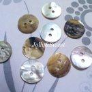 "100 pcs Akoya shell buttons 13mm or 1/2"" 2 holes sewing scrapbooking DIY art craft embellishment"