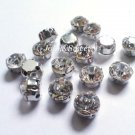 sew on rhinestones clear glass crystals 70 pcs beads 4mm 2D claws diamante faceted embellishment