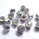sew on rhinestones clear glass crystals 300 pcs beads 6mm 2D claws diamante faceted embellishment