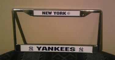 MLB New York Yankees Chrome License Plate Frame