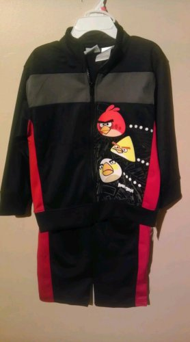 NEW Angry Birds Boys 4T Long Sleeve Jacket & Pants Set - Height 39-42""