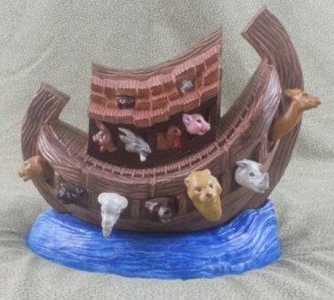 """Ceramic Noah's Ark - Beautifully Creative 10 1/2"""" L x 9"""" W x 11"""" T"""