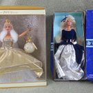 Barbie Collectors! 1995 Avon Winter Velvet Barbie & 2000 Celebration Barbie