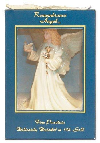 "8"" Sympathy Angel Music Box - Exquisite White Porcelain"