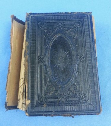 "1800s Den Swenlka Psalm-Boken Small Swedish Bible 3 1/2"" x 3"" x 1"""